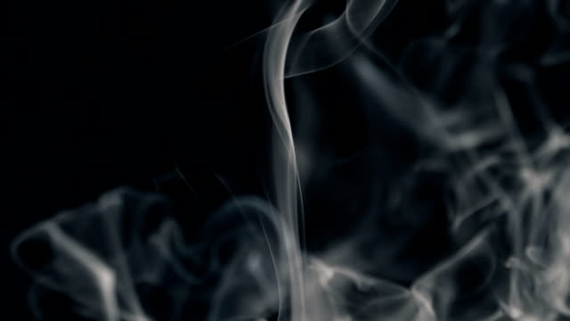 white smoke isolated on black - condensation stock videos and b-roll footage