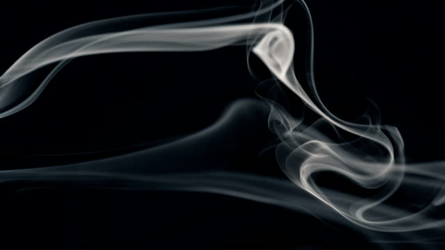 white smoke isolated on black - paranormal stock videos & royalty-free footage