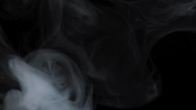 white smoke on a black background - black background stock videos & royalty-free footage