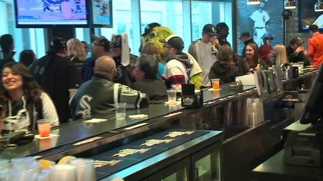 WGN White Sox Fans in a Bar at US Cellular Field on Opening Day in Chicago on April 8 2016
