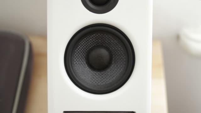 white speaker - loudspeaker stock videos & royalty-free footage