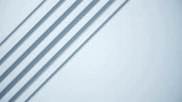 White technology 3d abstract background. Minimal futuristic texture for business slideshow. Simple geometric video pattern.Seamless loop.