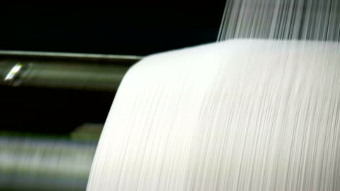 white threads on a loom in retro classical style warp knitting  machine - textile stock videos & royalty-free footage