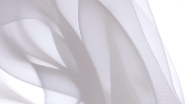 vidéos et rushes de textile transparent blanc - transparent