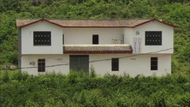 MS White two story house exterior, Guilin, Guangxi Zhuang Autonomous Region, China
