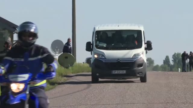 a white van thought to contain jonathann daval arrives at the bois d'esmoulins in eastern france for the second part of the reconstruction of the... - haute saone stock videos and b-roll footage