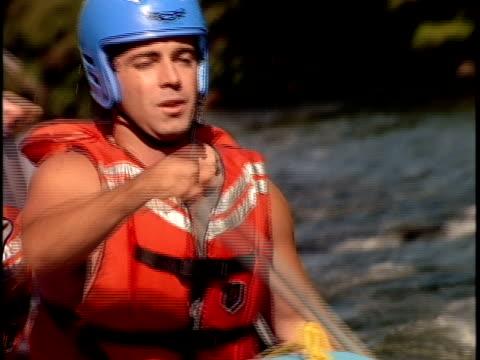 slo mo, ecu, focusing, white water rafters paddling through rapids, otter slide, north creek, adirondack state park, new york state, usa  - adirondacks rafting stock videos & royalty-free footage