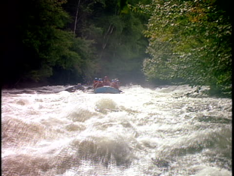 slo mo, ms, white water rafters paddling through rapids, otter slide, north creek, adirondack state park, new york state, usa  - rafting stock videos & royalty-free footage