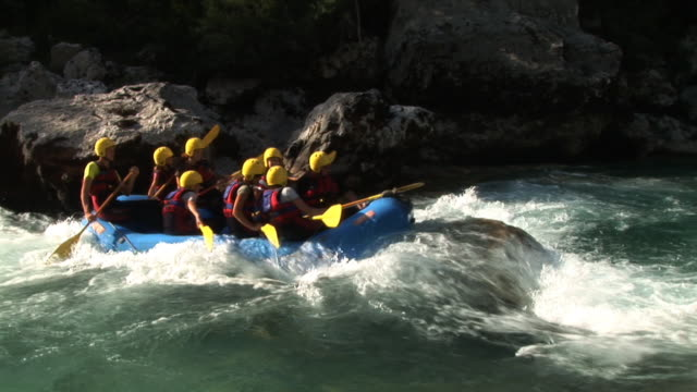 hd: white water rafting - rafting stock videos and b-roll footage