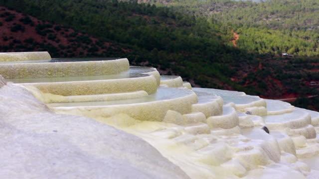 white water terrace, shangri-la, yunnan, china - geology stock videos & royalty-free footage