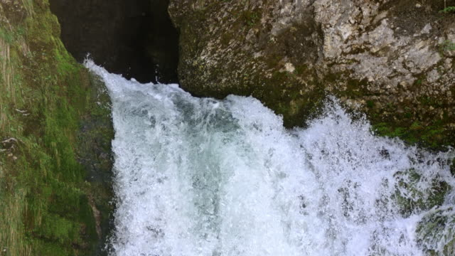 slo mo white waters of a raging waterfall - 20 seconds or greater stock videos & royalty-free footage