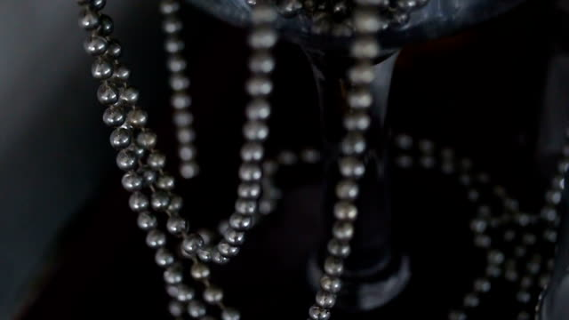 white wedding pearls - necklace stock videos & royalty-free footage