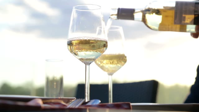 white wine toast - white wine stock videos & royalty-free footage