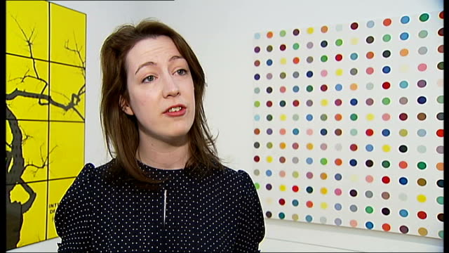 whitechapel gallery reopens elizabeth flanagan interview sot cutaway people looking at works of art in gallery people along past sculptures... - tapestry stock videos & royalty-free footage