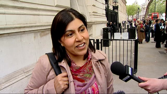 baroness sayeeda warsi pc interview sot - it has been emotional 24 hours... to be born the daughter of an immigrant millworker in yorkshire, to have... - baroness stock videos & royalty-free footage