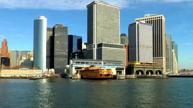 whitehall ferry terminal - manhattan, new york - ferry terminal stock videos & royalty-free footage