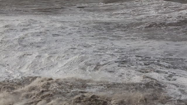 whitehaven harbour and sea cliffs during the janua - storm surge stock videos & royalty-free footage