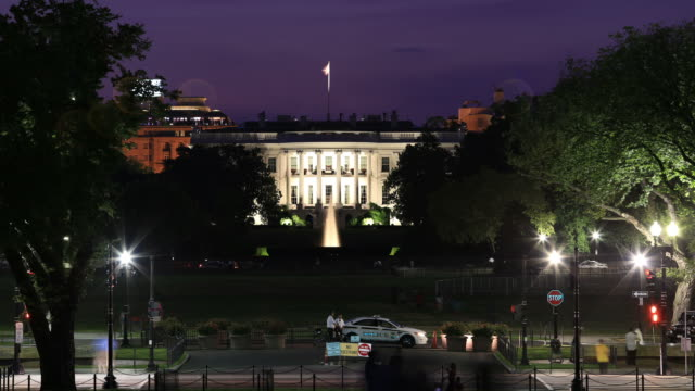 whitehouse night time lapse - white house stock videos and b-roll footage