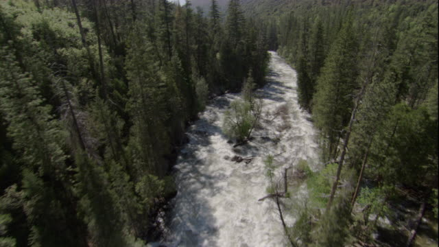 whitewater fills part of the kings river in california. available in hd. - riverside california stock videos and b-roll footage