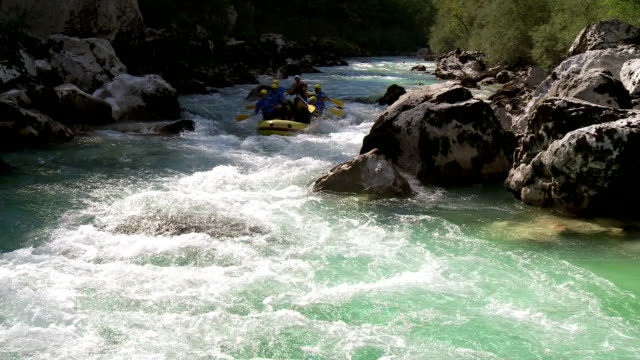 hd: whitewater rafters on the rough water - whitewater rafting stock videos & royalty-free footage