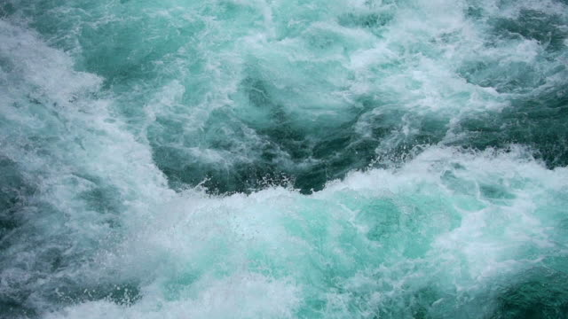 SLOW MOTION: Whitewater Surface Close-Up.