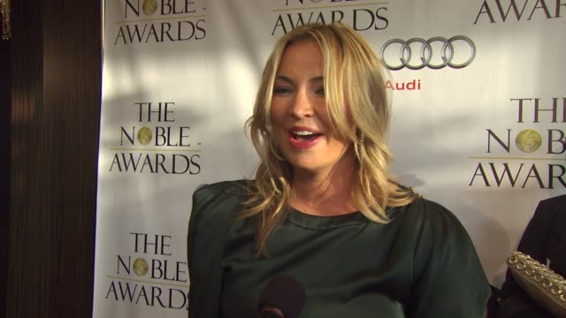 whitney burditt on accepting the award on behalf of norman lear at the noble awards at beverly hills ca - norman lear stock videos and b-roll footage
