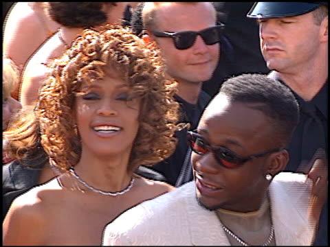 whitney houston at the 1998 emmy awards at the shrine auditorium in los angeles california on september 13 1998 - whitney houston stock-videos und b-roll-filmmaterial