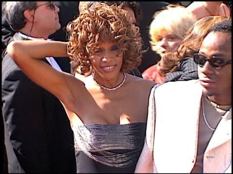 whitney houston at the 1998 emmy awards at the shrine auditorium in los angeles, california on september 13, 1998. - whitney houston stock-videos und b-roll-filmmaterial