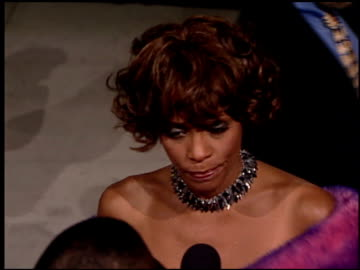 whitney houston at the 2001 academy awards vanity fair party at the shrine auditorium in los angeles, california on march 25, 2001. - whitney houston stock-videos und b-roll-filmmaterial