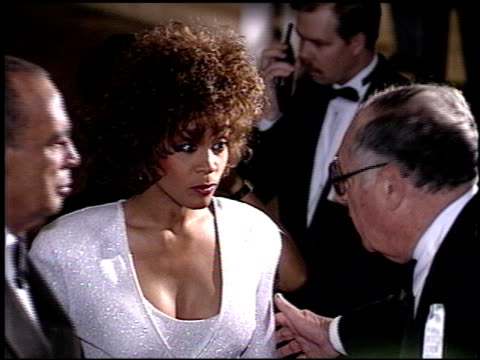 whitney houston at the american cinema awards 1990 on january 27 1990 - 1990 stock videos & royalty-free footage