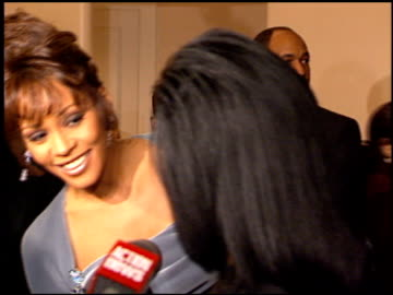whitney houston at the arista records grammy awards party at the beverly hilton in beverly hills, california on february 27, 1996. - whitney houston stock-videos und b-roll-filmmaterial