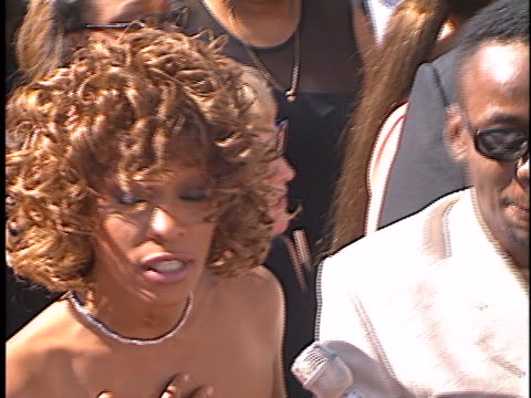 vidéos et rushes de whitney houston at the emmy awards at shrine auditorium los angeles in los angeles, ca. - shrine auditorium