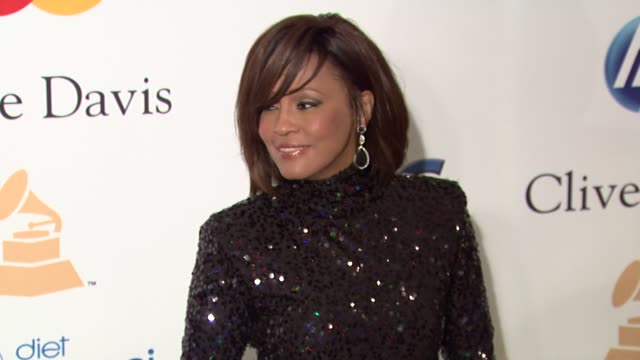 whitney houston at the pre-grammy gala & salute to industry icons with clive davis honoring david geffen at beverly hills ca. - whitney houston stock-videos und b-roll-filmmaterial