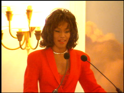 whitney houston at the whitney houston 'waiting to exhale' event on october 18, 1995. - whitney houston stock-videos und b-roll-filmmaterial