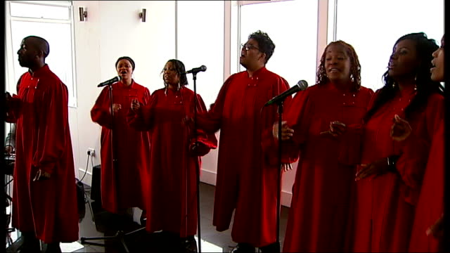 whitney houston found dead in los angeles hotel england london millbank altitude various of london community gospel choir performing cover of whitney... - whitney houston stock-videos und b-roll-filmmaterial