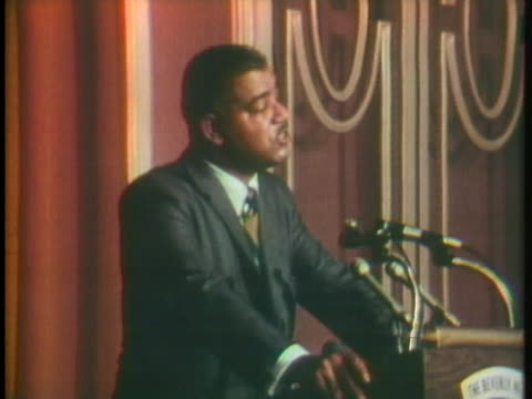 whitney young, jr. addresses a crowd at the beverly hilton about racism. - the beverly hilton hotel stock videos & royalty-free footage
