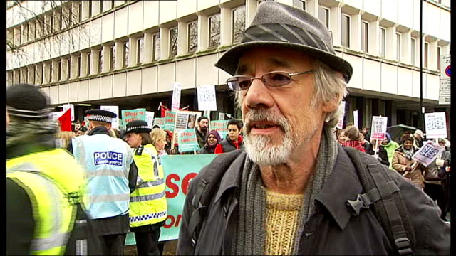 thousands protest against proposed cuts england london holloway ext protesters marching up holloway road holding 'save whittington hospital' placards... - sinclair institute stock videos and b-roll footage