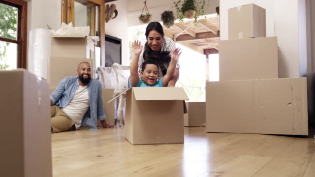 who said moving day wasn't any fun? - real estate stock videos & royalty-free footage