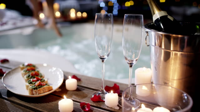 who says romance is dead? - hot tub stock videos and b-roll footage