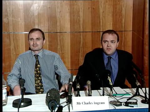 'who wants to be a millionaire' three arrested london major charles ingram press conference sot denies allegations regarding coughing ext diana... - game show stock videos and b-roll footage