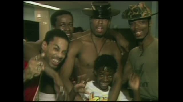 whodini backstage with jermaine dupri at fresh fest ii in 1985. - russell simmons stock videos & royalty-free footage