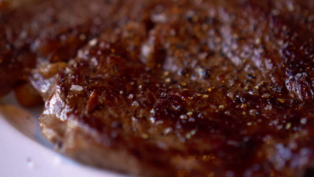 whole steak dinner - steak plate stock videos & royalty-free footage