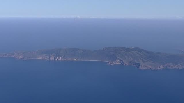 aerial, whole view of kuchinoerabujima is, kagoshima, japan - philippine sea stock videos & royalty-free footage
