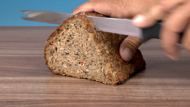 whole wheat bread - granary stock videos & royalty-free footage
