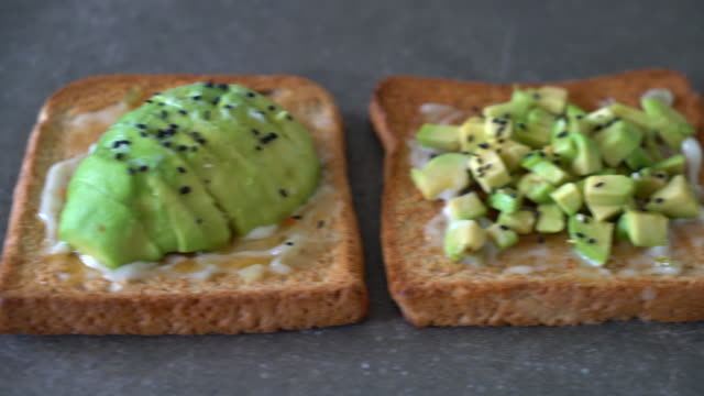 wholewheat bread toast with avocado