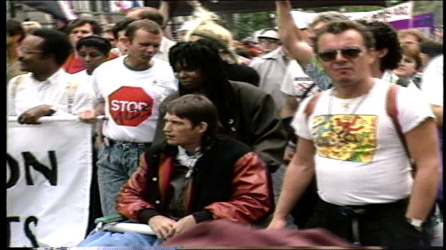 whoopi goldberg and geraldo rivera - hiv stock videos & royalty-free footage