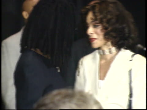 whoopi goldberg and jasmine guy talking on red carpet - friars roast 1993 stock videos and b-roll footage