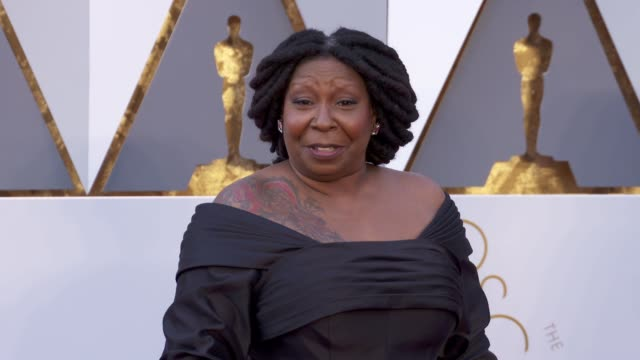 whoopi goldberg at 88th annual academy awards arrivals at hollywood highland center on february 28 2016 in hollywood california 4k - whoopi goldberg stock videos & royalty-free footage