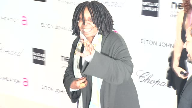 whoopi goldberg at elton john aids foundation celebrates 20th annual academy awards viewing party on 2/26/12 in hollywood ca - whoopi goldberg stock videos & royalty-free footage