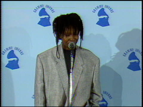 Whoopi Goldberg at the 1987 Grammy Awards at the Shrine Auditorium in Los Angeles California on February 24 1987